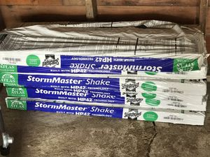 6 bundles of Atlas Storm Master Shake HP42 shingles and 6 roof panels 97 by 48. Also included is some roof tarp. Asking $280.00 or Best Offer. for Sale in Roswell, SD