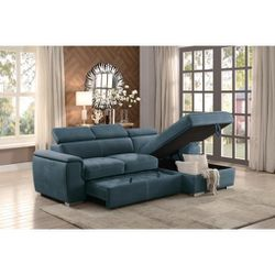💐Ferriday Blue Storage Sleeper Sectional 💥 for Sale in Hyattsville,  MD
