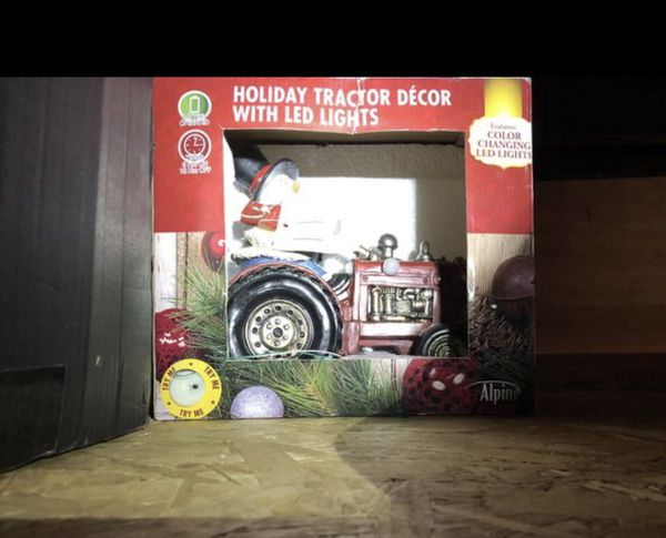 Holiday tractor decor