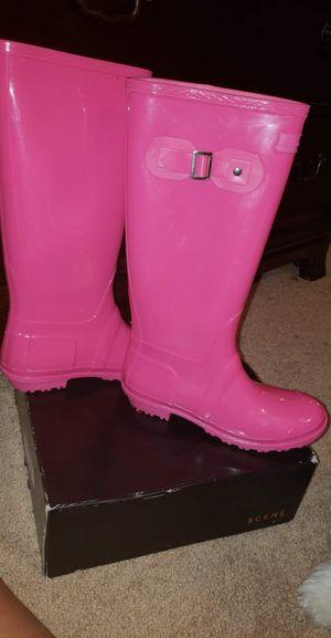 Pink jelly rain boots Fashion nova for Sale in Norcross, GA