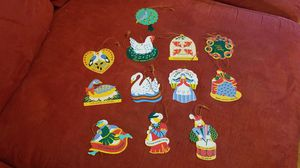 12 days of Christmas ornaments for Sale in Bunker Hill, WV