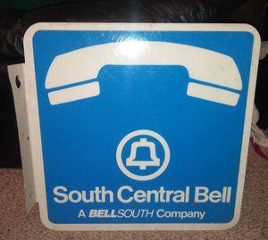 South Central Bell Flange Metal Sign for Sale in Pulaski, TN