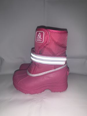 Nautica NS-83 Albermarle Kids Snow Rain Toddler Boots Pink & White for Sale in The Bronx, NY