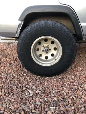 Jeep Cherokee, Jeep Wrangler TJ Wheels size 15x10 for Sale in Phoenix, AZ