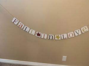 Fall In Love Banner/Sign for Party for Sale in Downey, CA