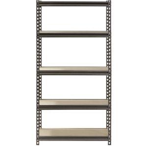 """Muscle Rack 5-Shelf Steel Shelving, Silver-Vein, 12"""" D x 30"""" W x 60"""" H for Sale in Houston, TX"""