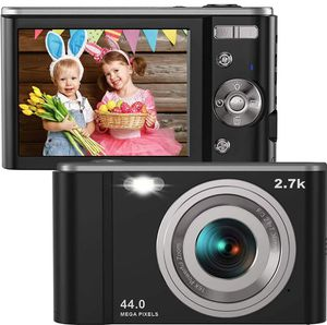 """Digital Camera HD 2.7K 44 MP Vlogging Camera with Webcam, Point & Shoot Digital Camera with 2.88"""" IPS Screen, 16X Digital Zoom, 2 Batteries, for Sale in Rancho Cucamonga, CA"""