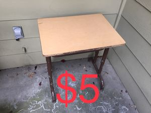 Small Wood Metal Table Desk for Sale in San Jose, CA