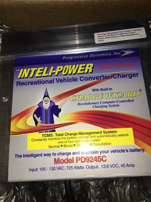 Progressive Dynamics PD9245CV Inteli-Power 9200 Series Converter/Charger with Charge Wizard - 45 Amp for Sale in Phoenix, AZ