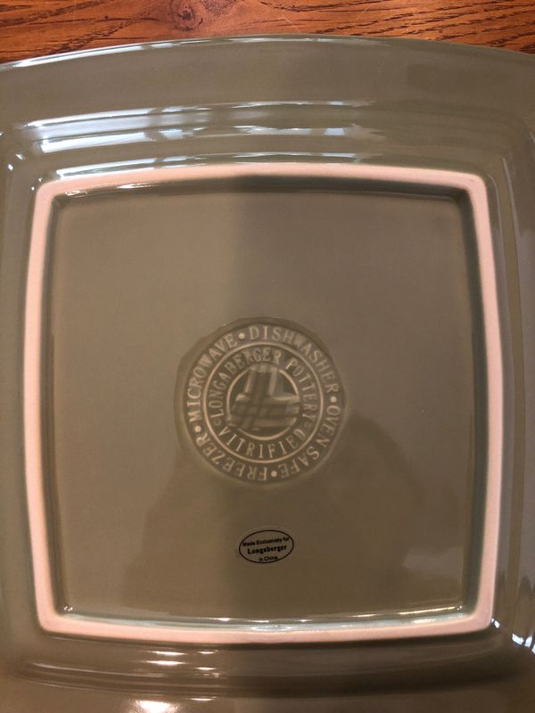 Longaberger Woven Traditions Soft Square Dinner Plate (BUY MORE SAVE MORE)