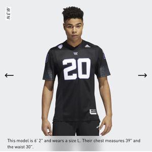 UW Adidas Black Alternate Jersey XXL - $90 for Sale in Kirkland, WA