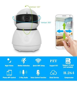 Home IP Camera Pan/Tilt Night Vision Motion Detection Alarm 2-Way Audio WiFi Wireless Video for Sale in Los Angeles, CA