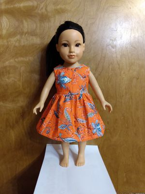 "American Girl Or 18""inches or AG doll dress made to fit 18 inches dolls perfect for gift or for your child favorite doll for Sale in Peoria, IL"