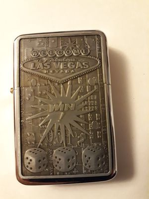 New win big in fabulous las Vegas etched windproof oil lighter similar to zippo for Sale in Lancaster, OH
