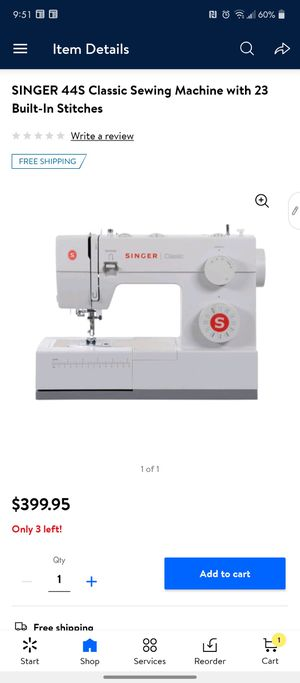 Singer 44s heavy duty 23 stitch sewing machine for Sale in Albuquerque, NM