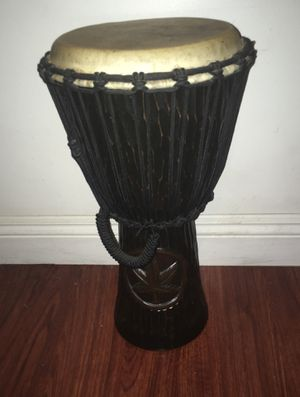 Handmade djembe drum - marijuana leaf hand carved logo $125 - No Delivery for Sale in Lynwood, CA