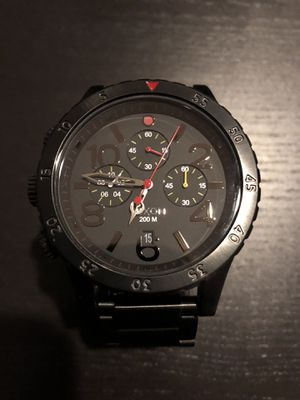 Nixon Chrono 48-20 A486-1320 All Black/Multi Stainless Steel Watch Authentic for Sale in Ashburn, VA
