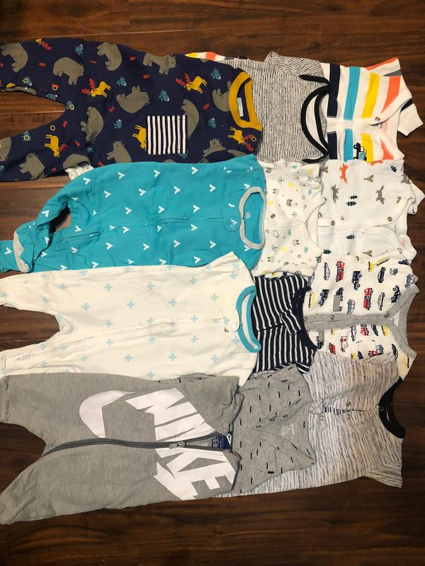 Years worth of baby boy clothes sizes NB-18M