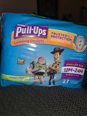 Huggies Mickey Mouse pull ups 27 training pants size 12 months to 24 months for Sale in Tempe, AZ