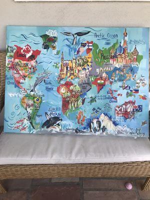 Big World Kids Map Canvas for Sale in Anaheim, CA