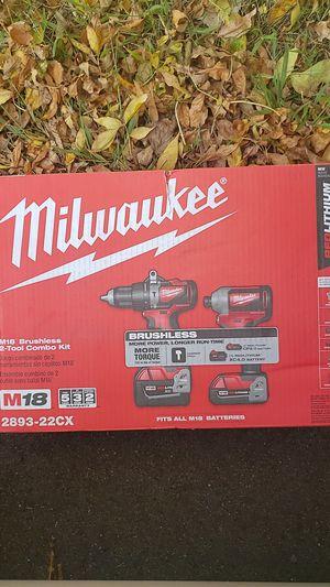 Milwaukee M18 BRUSHLESS 2-TOOL COMBO KIT for Sale in Burnsville, MN