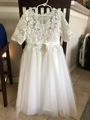 Flower Girl Dress Ivory with Tags for Sale in Lutz, FL