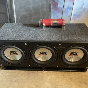 """3 MTX 7500 10"""" Sledge Hammer Bass Box for Sale in Bethesda, MD"""