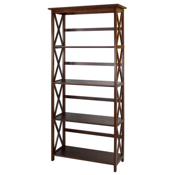 Walnut Hitz Etagere Bookcases