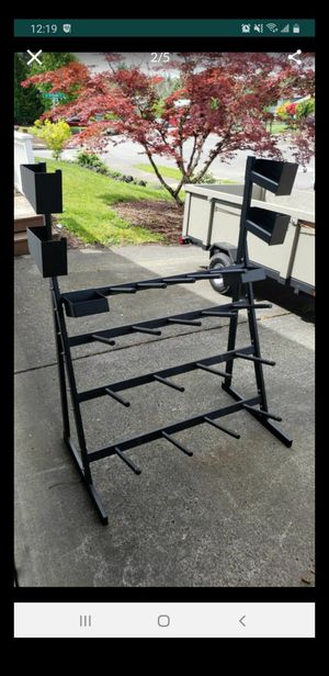 Weight plates rack wit h small storage up top for Sale in Gresham, OR