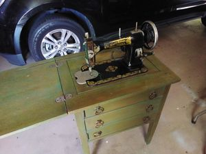 White rotary antique sewing machine for Sale in Highland, CA