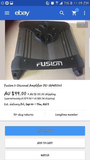 Fusion 2 channel amplifier for Sale in Berwyn, IL