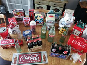 Entire Coca Cola Collection Including Vintage Crates for Sale in Simpsonville, SC