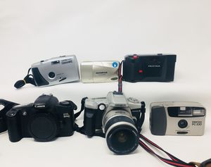 Nikon, Pentax, Minolta and more vintage film cameras point and shoot for Sale in Portland, OR