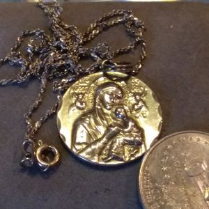 Mother Mary Sterling Silver Pendant And Chain... for Sale in Willow Street, PA