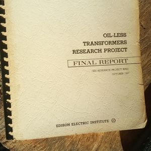 OIL-LESS TRANSFORMERS RESEARCH PROJECT (oct 1967) for Sale in Seffner, FL