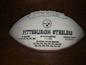 Pittsburgh Steelers Chamionsip Yrs Embroidered Leather 2 Tone Football for Sale in Portland, OR