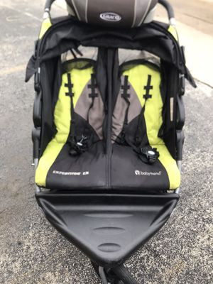 Baby jogger double stroller and Graco Booster seat for Sale in Bedford Park, IL