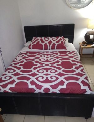 Full size bed frames new in the box with the mattresses and free shipping for Sale in Hialeah, FL