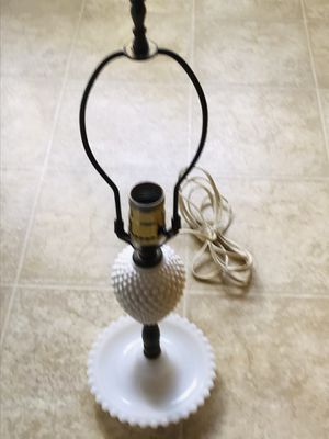 Antique white milk glass lamp for Sale in Los Angeles, CA