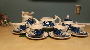 Coffee/Tea 14 pc Hand Painted Artisan Set for Sale in Norwalk, CA