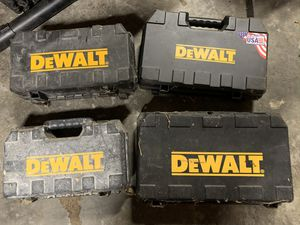 DeWalt Hardshell cases. Empty, great condition. for Sale in Auburn, WA