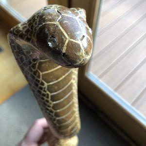 Antique Hand Carved Cobra Walking Stick for Sale in Spring Mills, PA