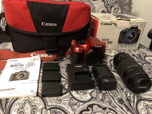 Canon Rebel T6 (Red) for Sale in Southfield, MI
