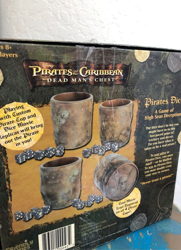 New Disney pirates of the Caribbean dice game - Ages eight and up. 2 to 4 players