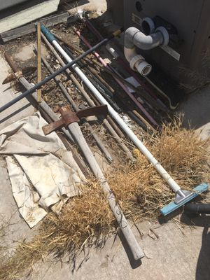Pushbroom sprinkler Braums gardening Braums rakes take all $45 for Sale in Las Vegas, NV