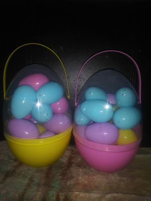 2 plastic filled Easter eggs for Sale in Lawndale, CA