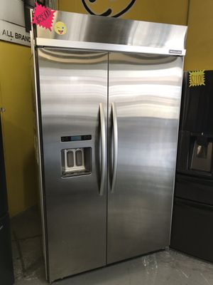 """New Kitchen Aid stainless steel 48"""" built in refrigerator for Sale in San Bernardino, CA"""