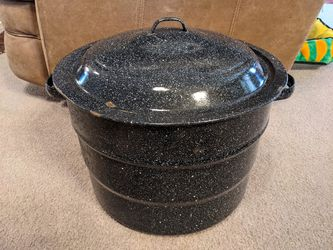 Vintage Blue Black Speckled Enamel Cookware Roaster Stew Canning Pot Cake Pan Strainer Blancher CookWare YOUR CHOICE or Take them ALL! for Sale in Prescott Valley,  AZ