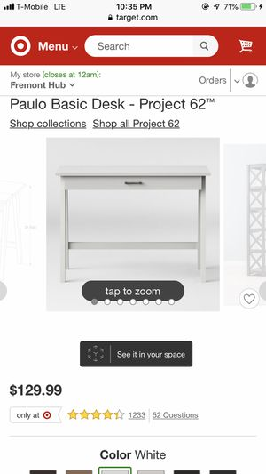 White desk from target for Sale in Alameda, CA