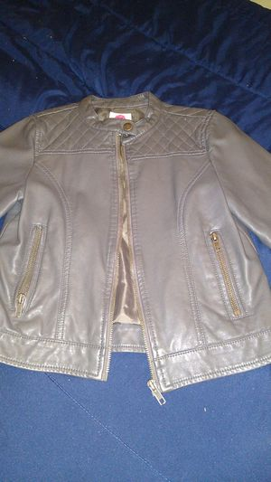 Total girl leather zip up jacket 10-12 for Sale in Phoenix, AZ